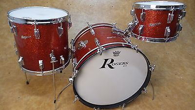 "Vintage 1960's Rogers Holiday  12 14 20"" Shell Pack Red Sparkle"