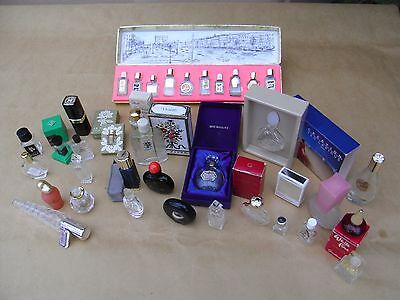 Collection of 36 Miniature Perfume Bottles, Balmain, Worth, Coty, Givenchy, Dior