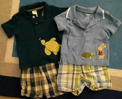 Boys 12-18 Month 6 Lot Outfit Gymboree Shorts Sirts