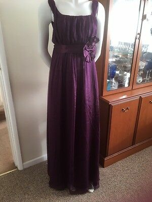 Bridesmaid,Prom,evening,party,long Dress Size 14/16 Stunning Deep Purple,