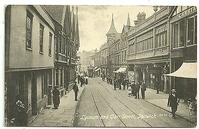 Suffolk postcard Ipswich Lyceum theatre and Carr Street