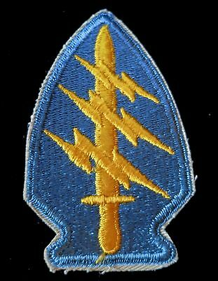 1950s RARE S.F. Army Patch- SPECIAL FORCES Flat Edge/Cut Edge with KHAKI