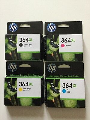 Lot de 4 cartouches HP 364XL (cyan, magenta, yellow, black). Neuves.