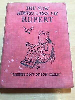 The New Adventures Of Rupert (Bear). 1936 (1st) Edition. Not in good condition.