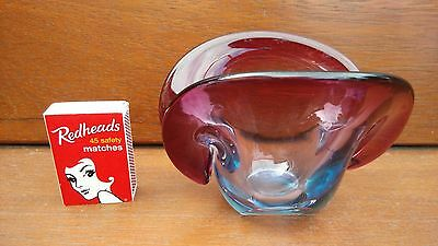 Vintage Collectable Mid Century Modern Murano Seguso Style Clam Shell Vase Bowl