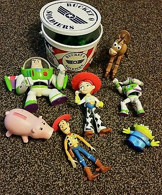 Toy Story Bundle of Toy Figures ( 7 figures plus toy soldiers)