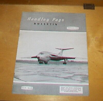 Handley Page Bulletin  February 1953. Victor Marathon Goon Show Hastings