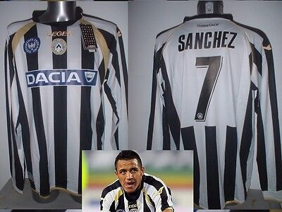 Udinese BNWT Adult XL SANCHEZ Legea Shirt Jersey Soccer Maglia Top Chile Arsenal
