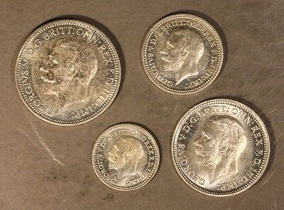 1928 Great Britain Maundy Set of 4 Lovely High Grade   ** Free U.S. Shipping **