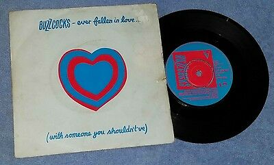"""Buzzcocks – Ever Fallen In Love..(With Someone) 7"""" Record VG-/EX+ UK 1978 Punk"""
