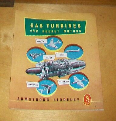 Armstrong Siddeley Gas Turbines And Rocket Motors Brochure 1953 Sapphire Viper