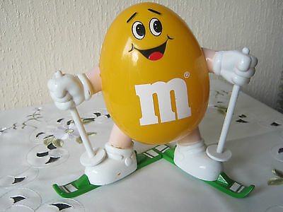 "M&m M&ms Happy Yellow 7"" Skier"