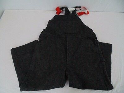 Vintage Ll Bean Charcoal Gray Wool Bib Overalls Mens Large