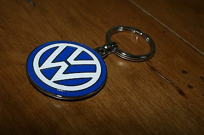 VW round logo keychain * Volkswagen * Beetle * Bug * Bus - Made In Germany