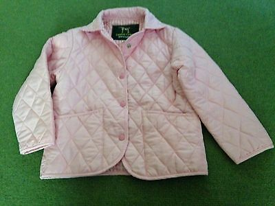 Campbell Cooper Girls Pink Quilted Riding Jacket Age 8 - 9