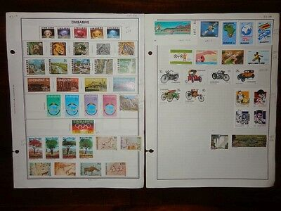 Zimbabwe ************************* 1980-87 Collection Of 91 Different