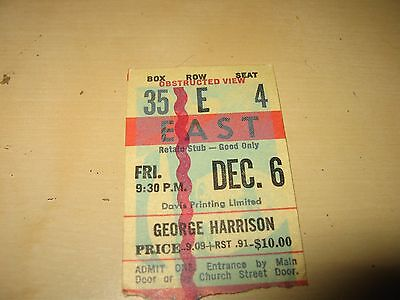 George Harrison (Beatles) Concert Ticket Stub-Toronto, 1974