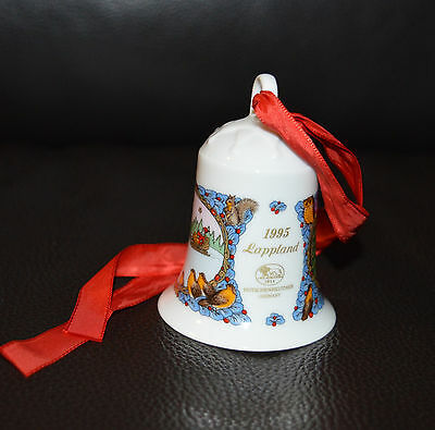 """Christmas Bell 1995, """"Lapland"""" by Hutschenreuther, Germany"""