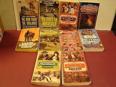 Lot of 10 Western's Paperback books.  see photo and list. (B4)
