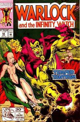 Warlock and the Infinity Watch #12 in Near Mint + condition. FREE bag/board