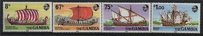 Gambia 1980 Early Sailing Vessels SG 441/4 MNH