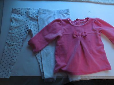 Carter's toddler size 2T 3 piece mix 2 pants 1 top