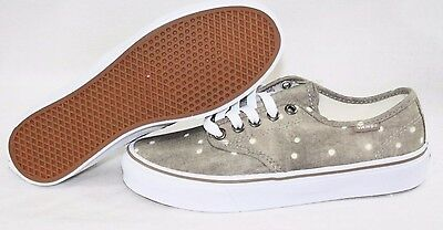 40ed9501aa NEW Womens VANS Camden Stripe Taupe White Polka Dot Classic Sneakers Shoes
