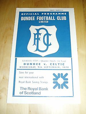 1970-71 SCOTTISH LEAGUE CUP Q/F – DUNDEE v CELTIC