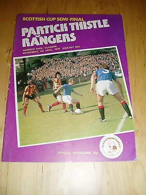 1978-79 SCOTTISH CUP S/F – PARTICK THISTLE v RANGERS