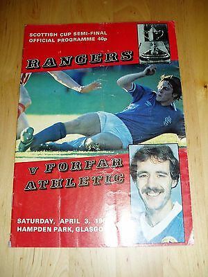 1981-82 SCOTTISH CUP S/F – RANGERS v FORFAR ATHLETIC