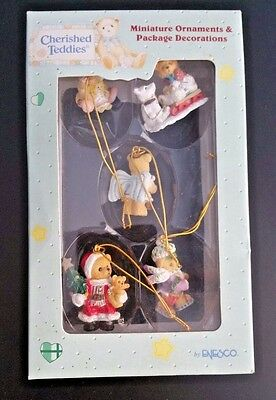 Cherished Teddies Miniature Ornaments & Package Decorations -FREE S&H-NEW- 1997