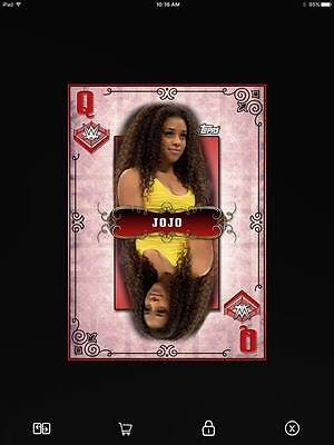 Topps WWE SLAM Card Trader JoJo Red Queens of the Ring digital card