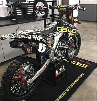 HONDA CR CRF 125 250 450 2017 NEW GEICO MILITARY Factory Graphics Decal Kit