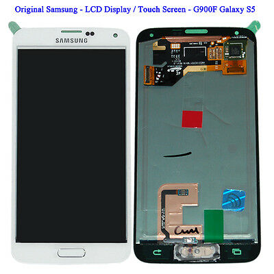 Kit Completo Original Samsung LCD Display / Touch Screen G900F Galaxy S5 white