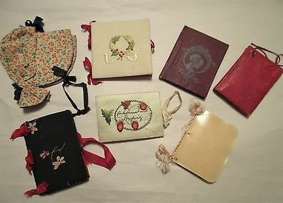 antique,sewing,needle holder,cases,EARLY,some HANDMADE,SOME LEATHER,CELLULOID,+