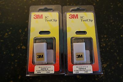 3M IC TEST CLIP 16 PIN DIP # 923739-16 - Set of 2 NEW