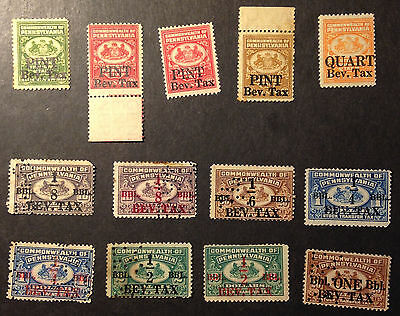 1934 Pennsylvania Beer tax stamps