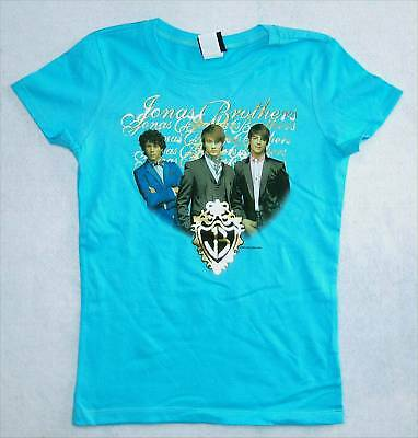Jonas Brothers Pic/foil Aqua Babydoll Girls Shirt L New