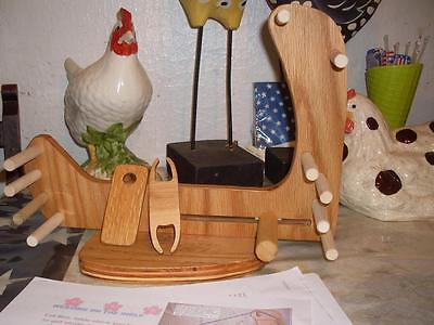 Light Portable Compact Tote-A-Long Inkle Loom /Tools/Instructions