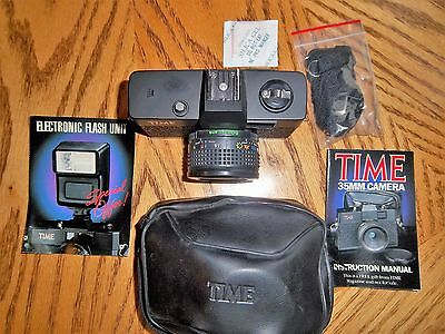 Never used, Time Magazine Vintage 35mm Camera and Case, Lavec Optical Glass Lens