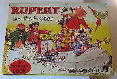Rupert And The Pirates-Pop-Up Book  1972- Rare Edition
