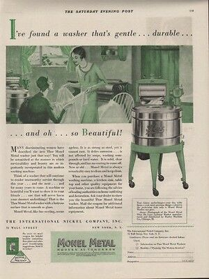 1920 Monel Metal Washing Machine Home Decor Laundery Ad[Sku]