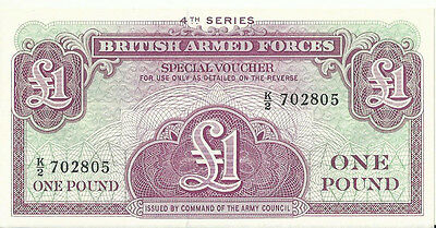 British Armed Forces One Pound Note 4nd Series UNC