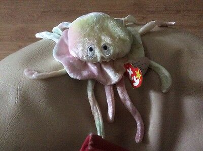 Orignal TY Beanie Baby Goochy the Jelly Fish