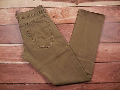 Men's Levi's 511 Skinny Jeans Size 30x30 Olive Green Colored Low Rise Zipper Fly
