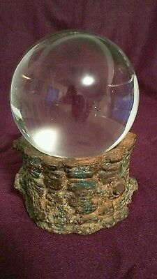 crystal ball wicca alter scrying ball wiccan piece