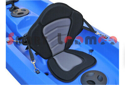 Padded Deluxe Kayak Canoe Seat Back Bag Adjustable Backrest Straps Metal Hooks