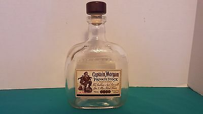 Captain Morgan Private Stock 750mL Bottle with Stopper EMPTY