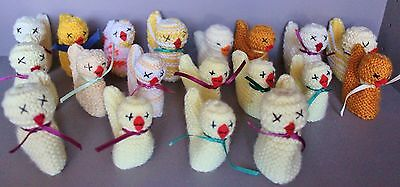 19 Multi-Color  Hand Knitted Easter Chick Creme Egg Covers