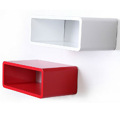 BLACK WHITE  RED ORANGE Cube Skybox Floating Wall Shelving Storage WiFi Box NEW